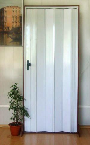 Дверь гармошка Премиум - Ясень без витража