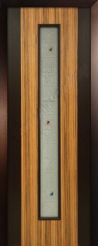 Шпонированная межкомнатная дверь Комби венге + зебрано