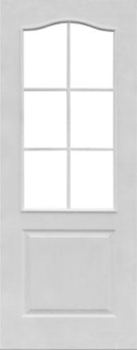Грунтованная дверь Классик со стеклом для строителей
