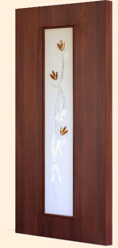 Ламинированная межкомнатная дверь С-17 (ф) тюльпан