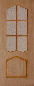 Шпонированная межкомнатная дверь Каролина (о)