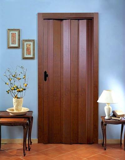 Дверь гармошка Эконом, орех (Тайвань)