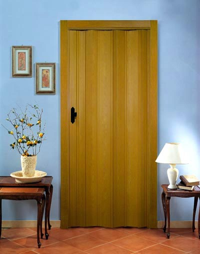 Дверь гармошка Премиум - Дуб без витража
