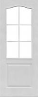 Грунтованная дверь Классик под стекло для строителей