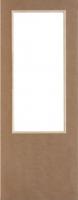 Оргалитовая дверь Удача под стекло для строителей