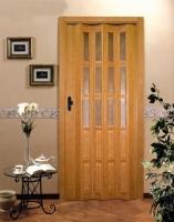 Дверь гармошка - Бук с витражом 1